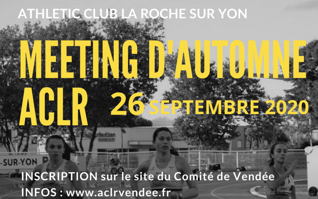 Meeting d'Automne 26 septembre 2020